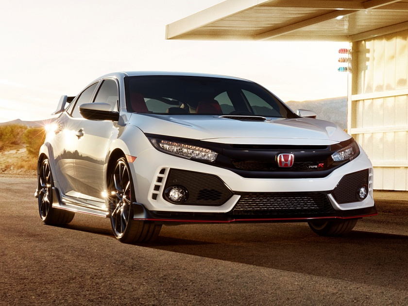 2017 Honda Civic Type R in White paint