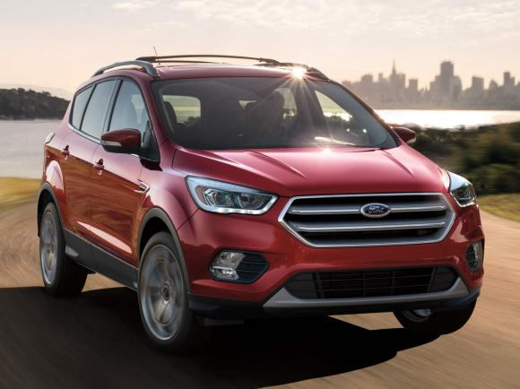 2017 Ford Escape Titanium in Red