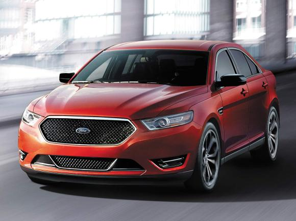 2017 Ford Taurus SHO in Red